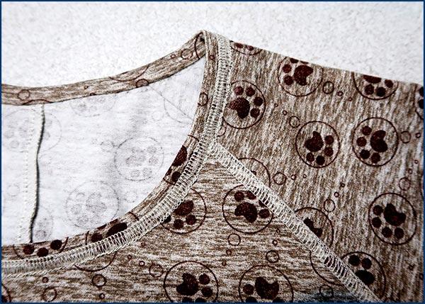 Обработка плоским швом при помощи оверлока