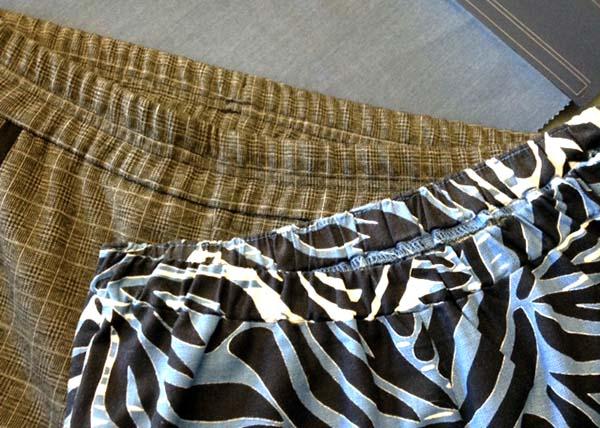 Обработка верхнего среза брюк притачным поясом