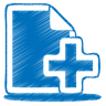 blue-document-plus-icon