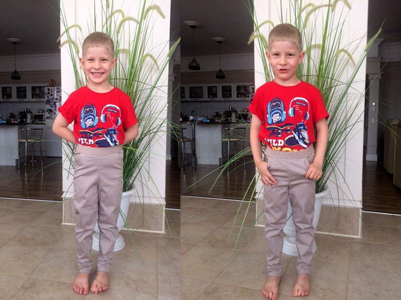 брюки сыну