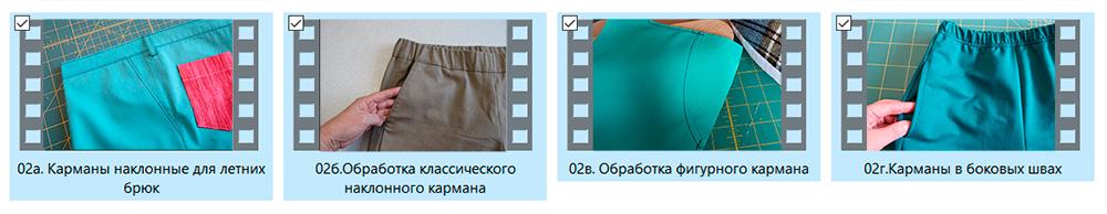 боковые карманы в брюках